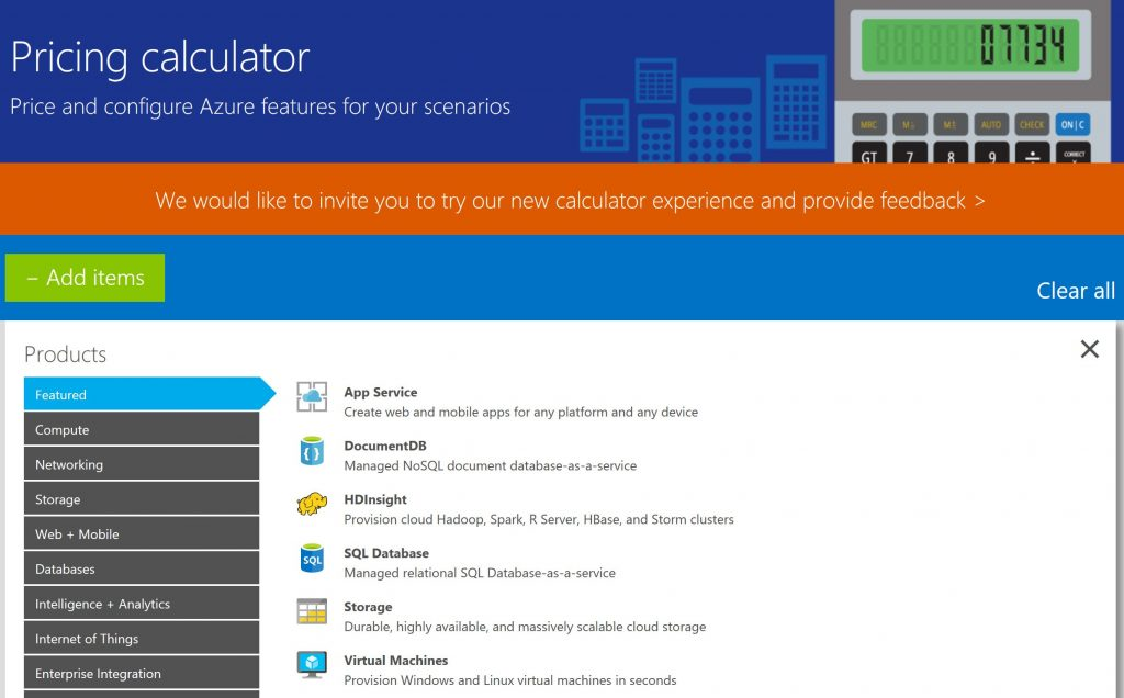 check out the new azure government pricing calculator
